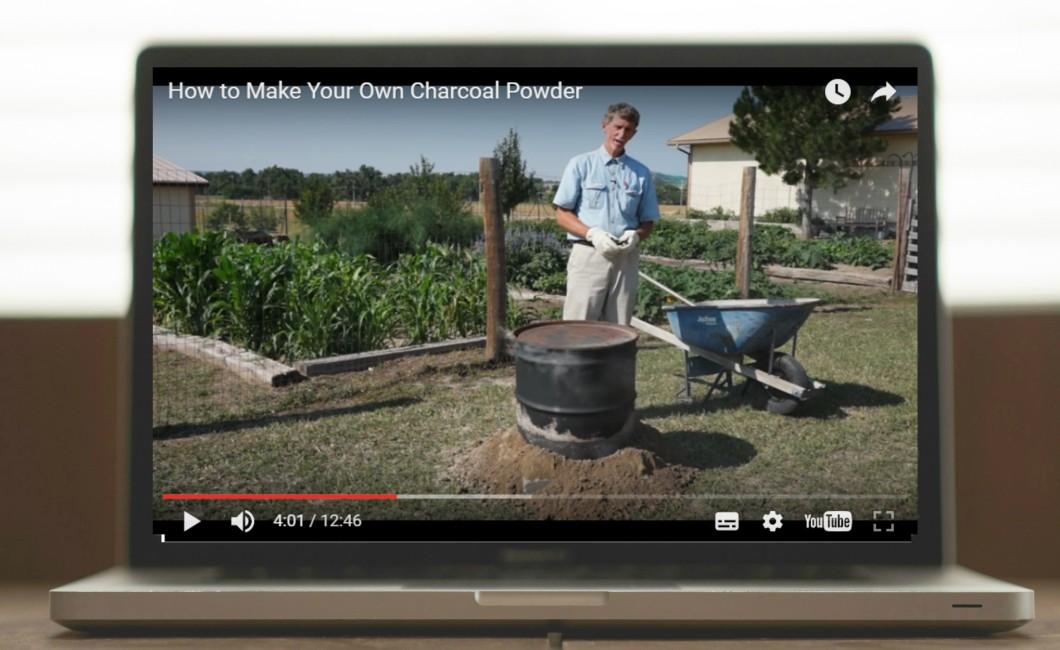 Video making charcoal