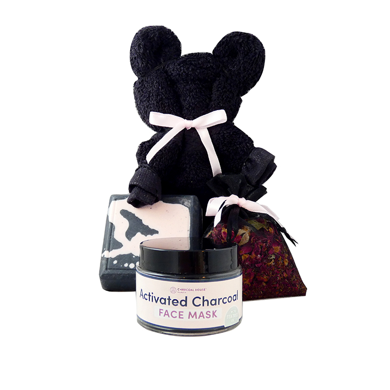 Charcoal Gift Set for Mom - My home is in my Mother's Eyes...
